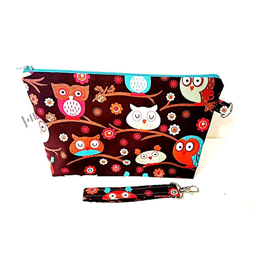 Owl Zippered Bag side view