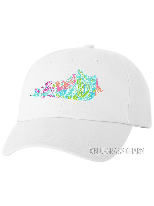 Pigment Dyed Preppy Patterend State Pride Hat