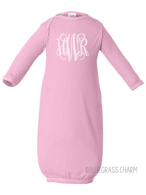 Vine Monogram Baby Gown