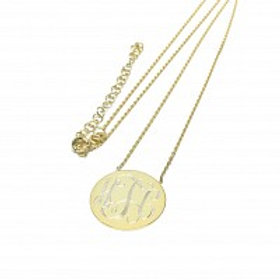 Gold Monogram Circle Necklace