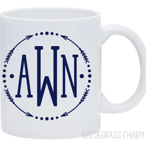 Arrow Monogram Coffee Mug