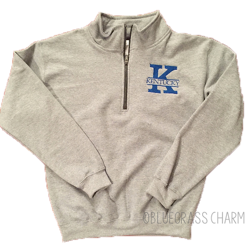 Embroidered Monogram Quarter Zip
