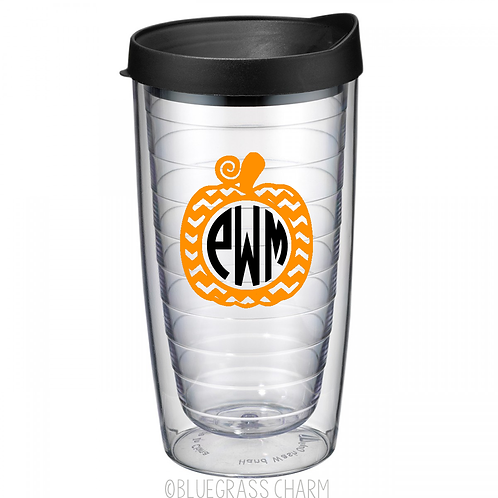 Fall Monogrammed Double Wall Tumbler