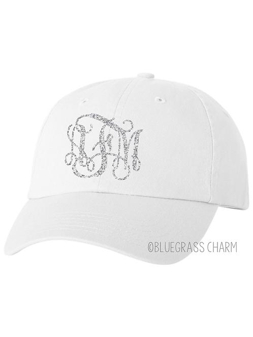 Pigment Dyed Glitter Monogram Hat