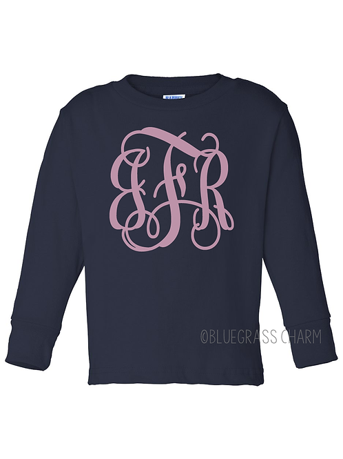 Youth Monogram Long Sleeve Tee