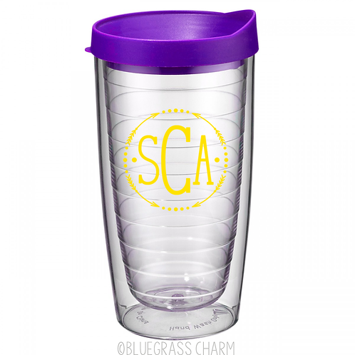 Monogrammed Double Wall Tumbler