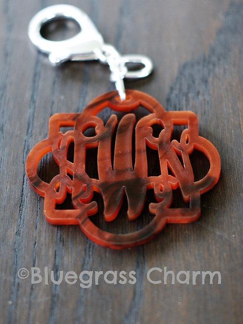 Monogram Acrylic Keychain