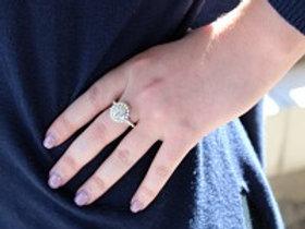 Monogrammed Pearl Ring