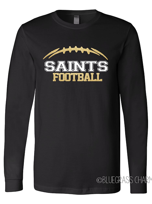 Glitter Mascot Football Gameday Long Sleeve Tee
