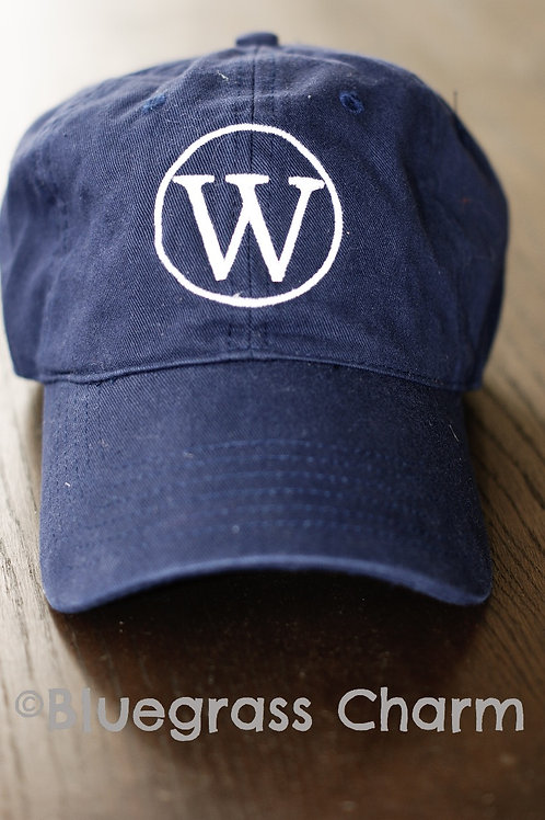 W Single Initial Monogram Hat