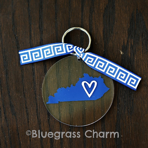 Kentucky State Love Acrylic Keychain