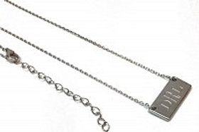 Silver Small Bar Engraveable Necklace