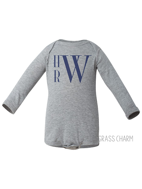 Long Sleeve Monogram Onesie