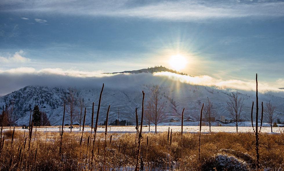 Snowy Sun Flair