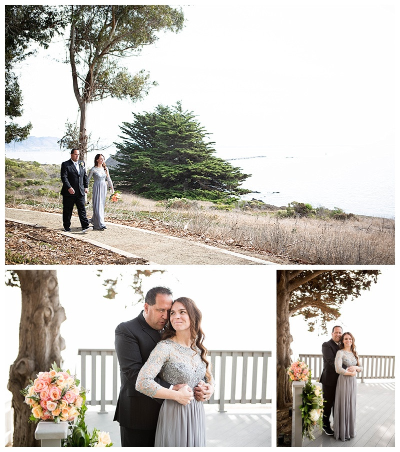 Bride and groom portraits after the ceremony at Point San Luis Lighthouse Wedding