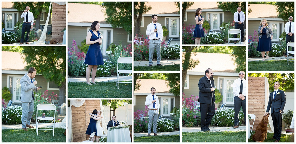 Surprise Wedding | Atascadero Wedding Photographer | The Speeches