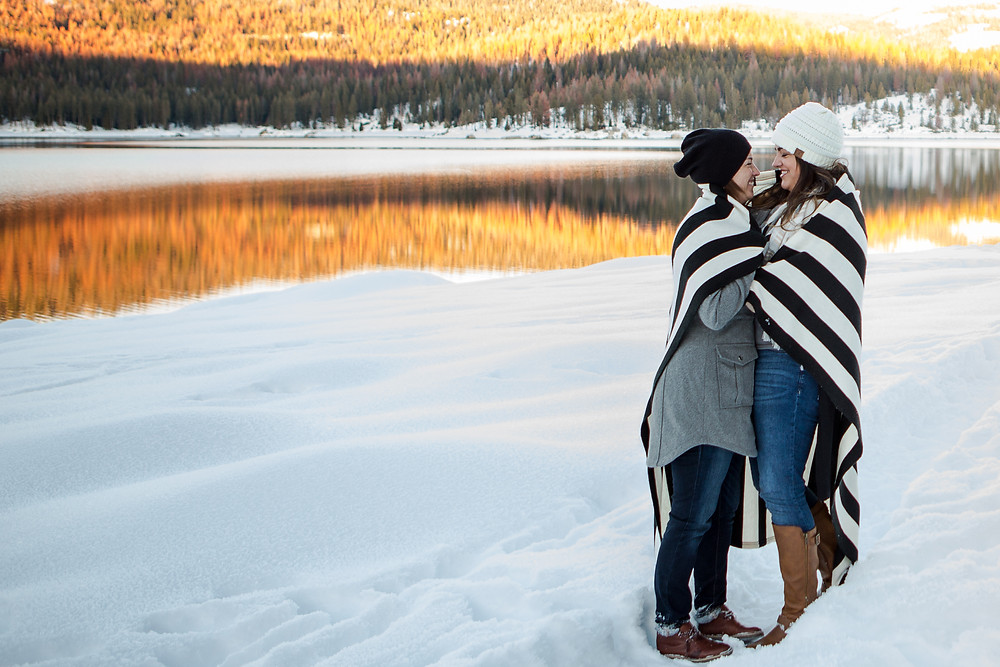 Same Sex Marriage | Snowy Shaver Lake Engagement Session