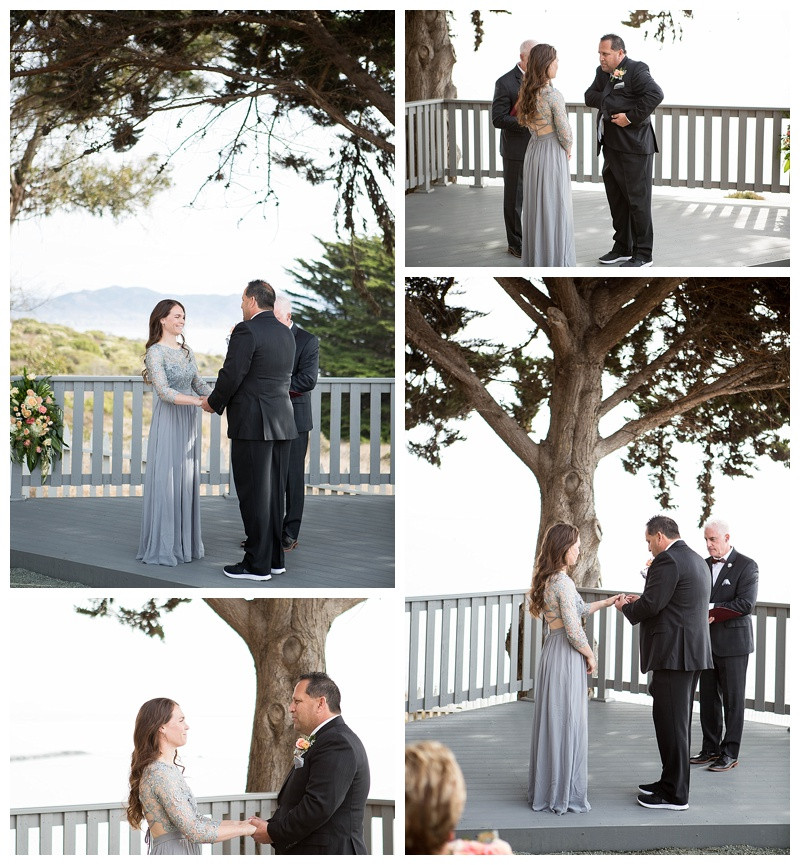 Exchanging of the rings at Point San Luis Lighthouse Wedding