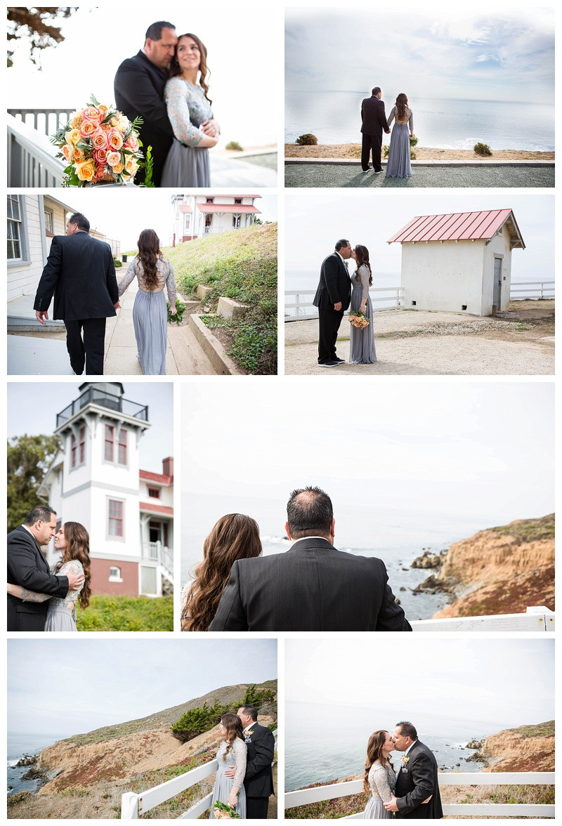 Bride and Groom Portraits after Point San Luis Lighthouse Wedding