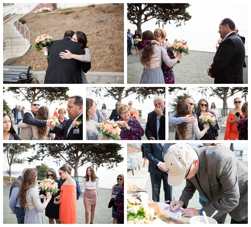 Receiving the guests after the ceremony at Point San Luis Lighthouse Wedding