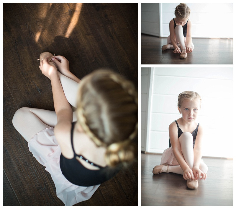 Tiny Ballerina | Putting on her ballet shoes