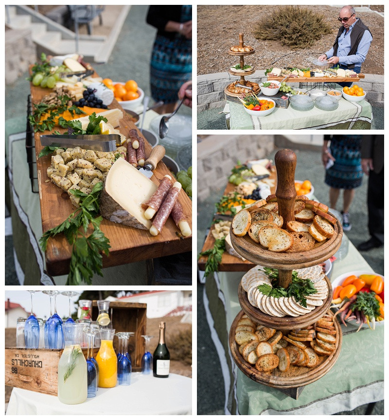 Field to Table Welcome Snacks at Point San Luis Lighthouse Wedding