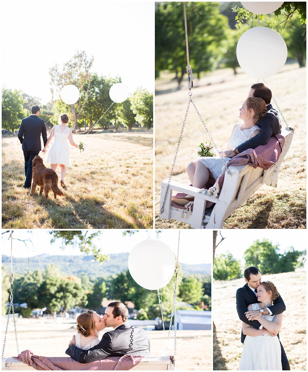 Surprise Wedding | Atascadero Wedding Photographer | Bridal Couple Portraits