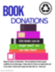 Copy of Book donation - Made with Poster