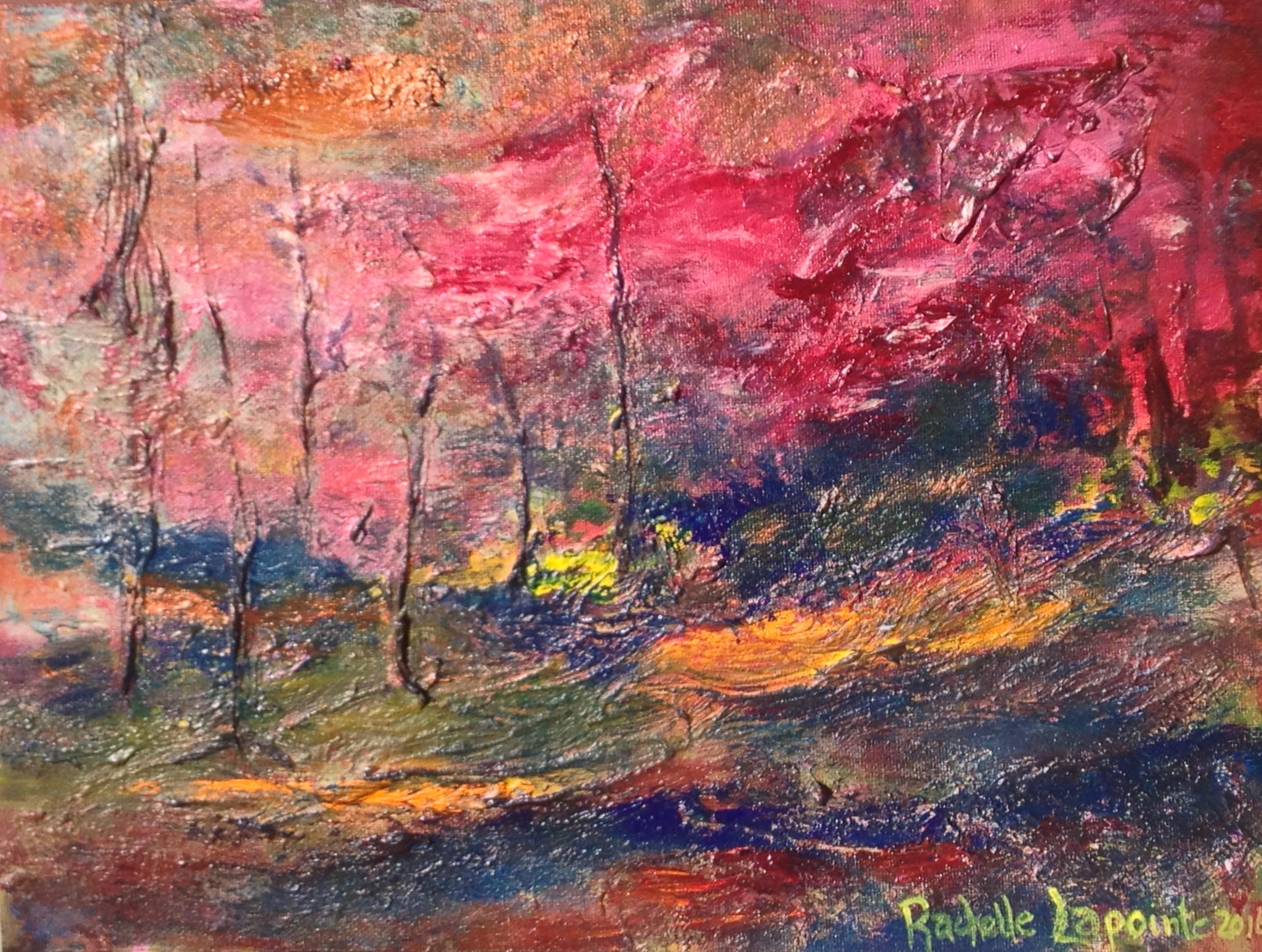 "Burnt Forest 8""x12"" $350"