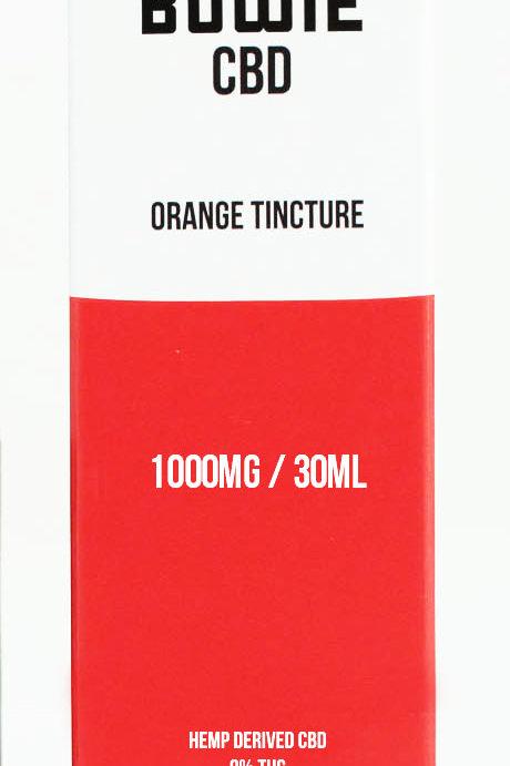 Red Bowie - CBD Orange Tincture - 1000mg