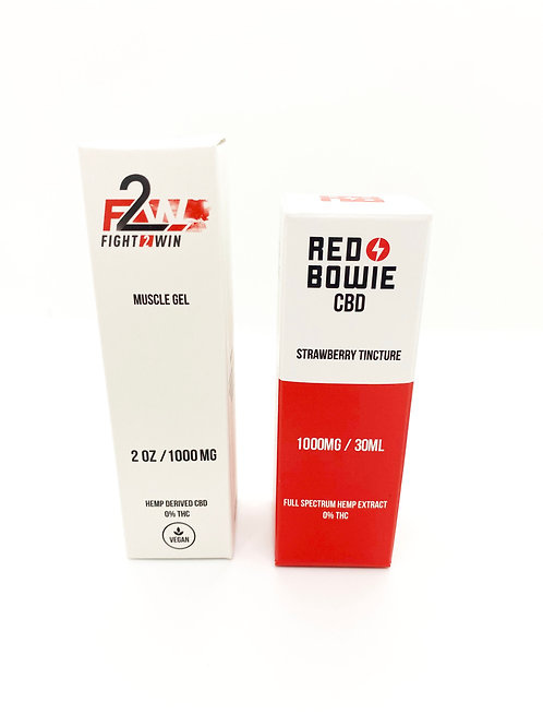 """Red Bowie - """"Pro Pack"""": 1000mg F2W Muscle Gel & 1000mg Strawberry Tinc"""
