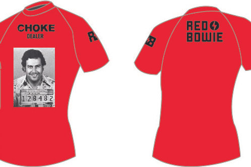 "Red Bowie - Red ""Pablo Escobar"" Rash Guard"