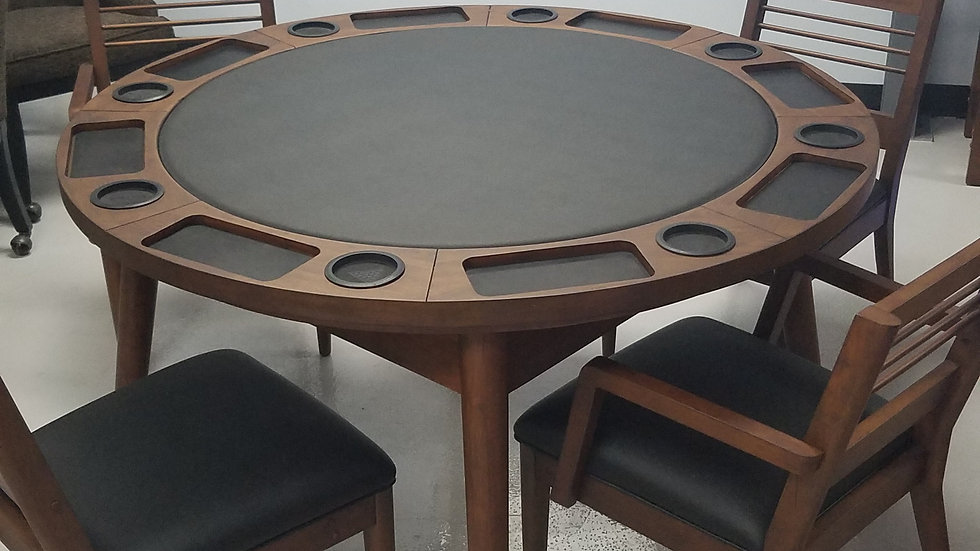 Collins Poker Table With Chairs