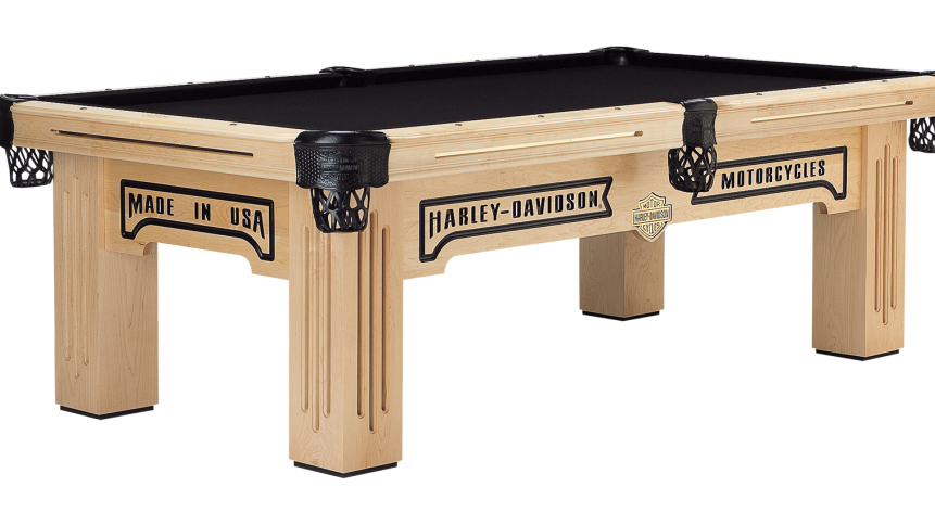 Harley-Davidson Maple Pool Table