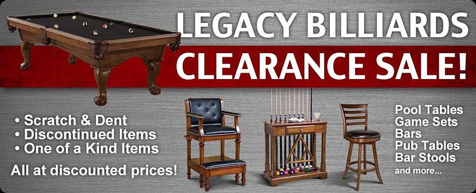 Legacy Billiards Clearance