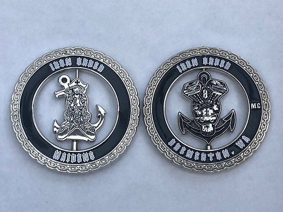 """SHIPYARD CREW'S """"HIS AND HERS"""" CHALLENGE COINS"""