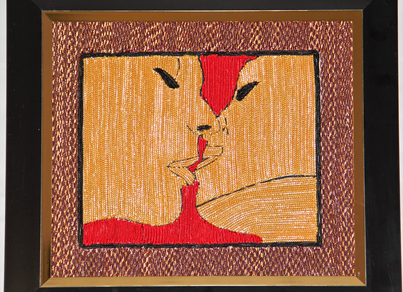 The Kiss (Handmade with unique threads)