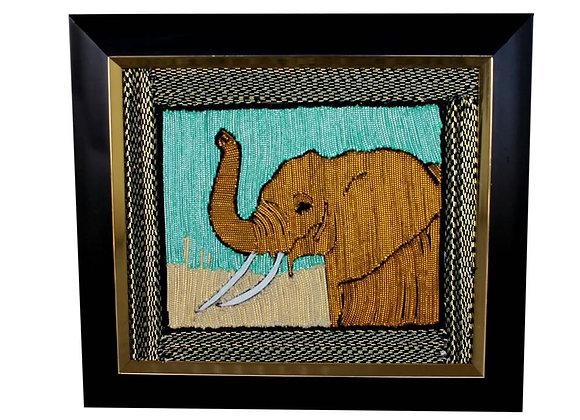 The Elephant (Handmade with designer threads)