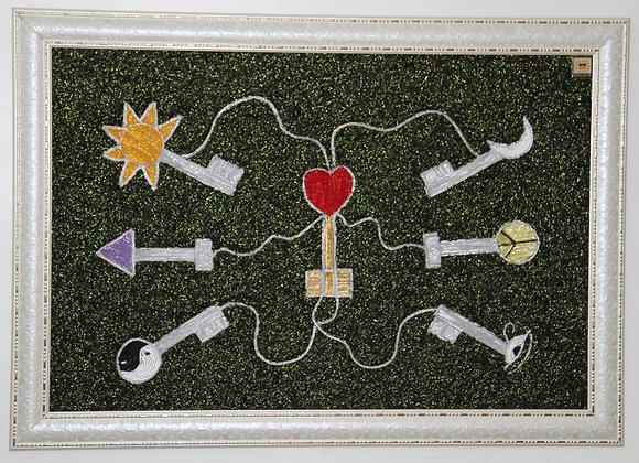 The Keys (Handmade with designer threads)