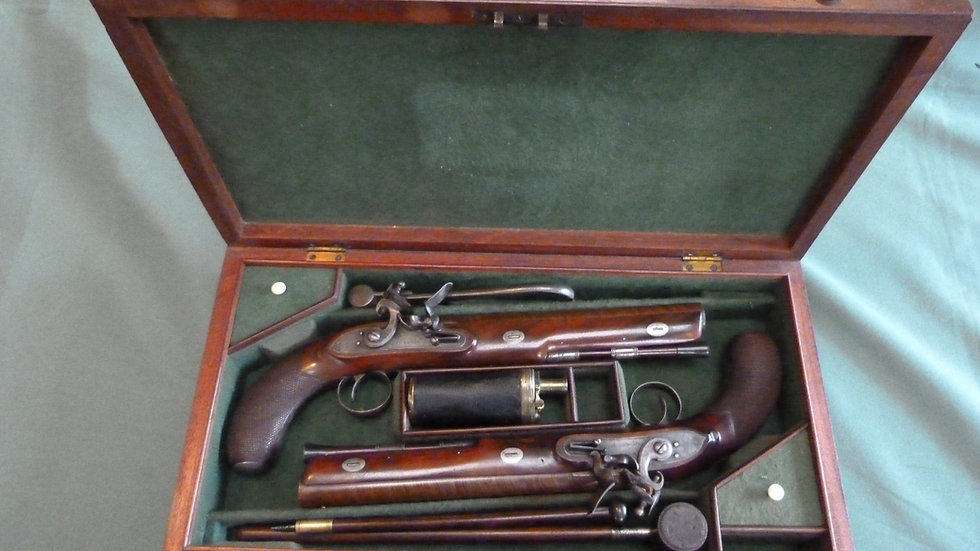 Cased Pair of Officer's Pistols