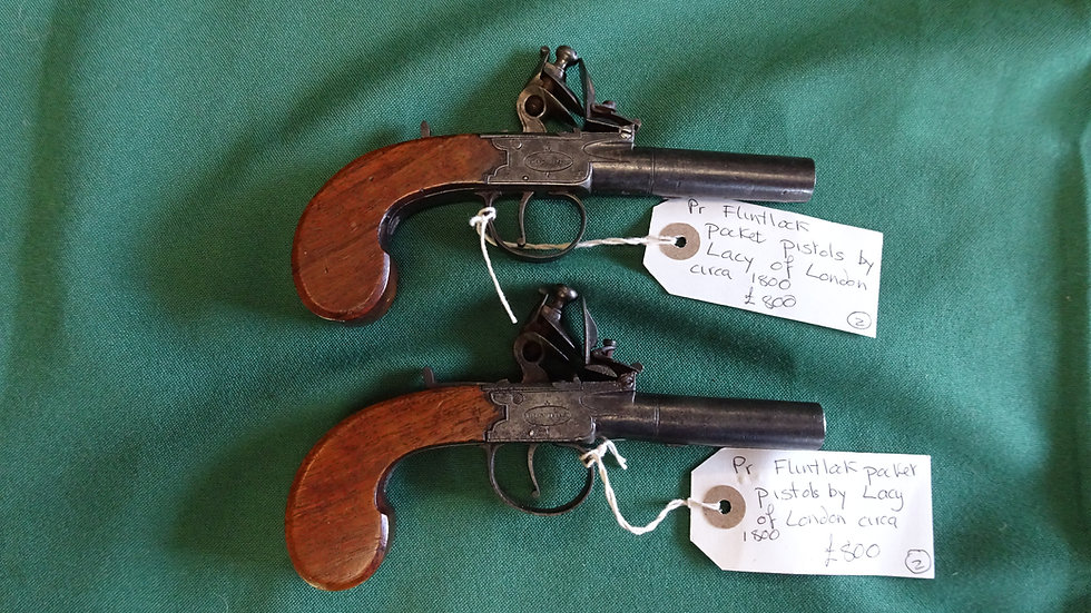 Pair of Lacy Pocket Pistols