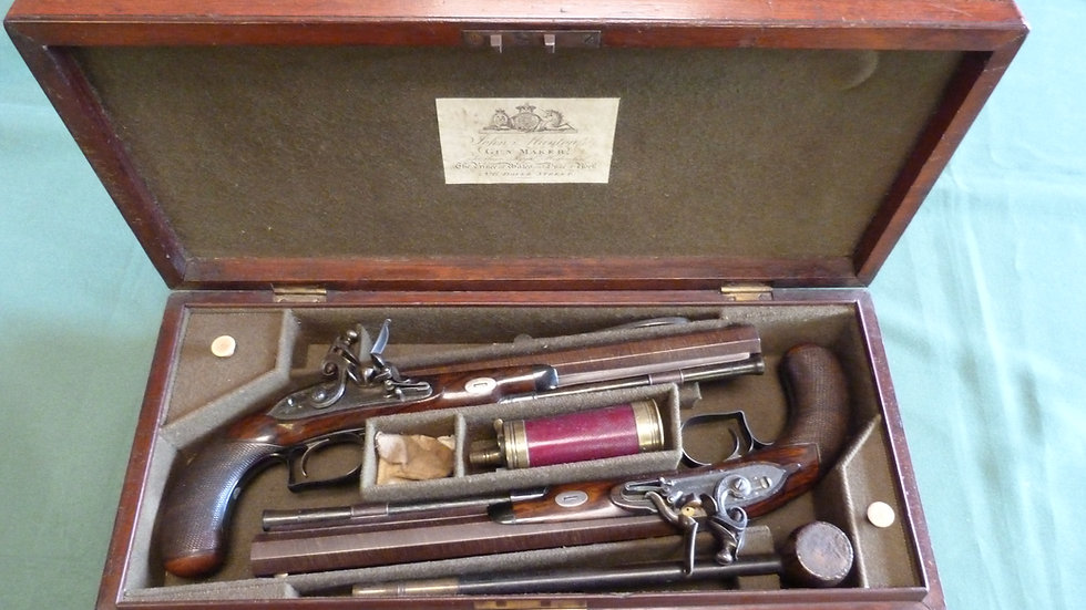 Flintlock John Manton Duelling Pistols