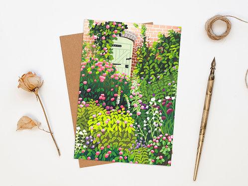 Rose Cottage Garden Greeting Card