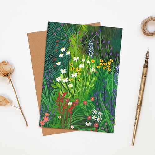 Wild Flower Garden Greeting Card