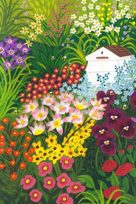 Bee Garden Painting