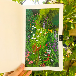 Wild Flower Garden Sketchbook