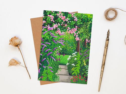 Secret Garden Pathway Greeting Card