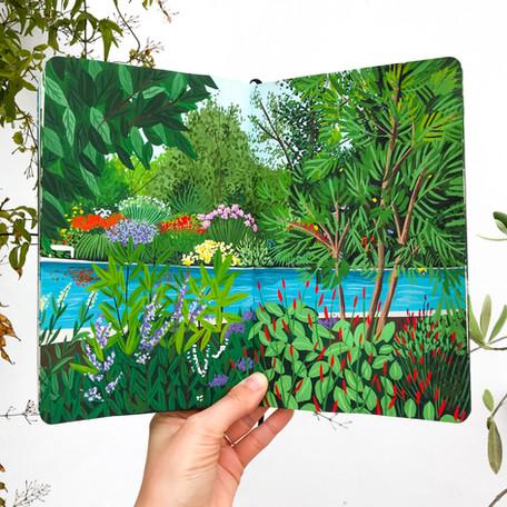 Rainforest Pool Sketchbook