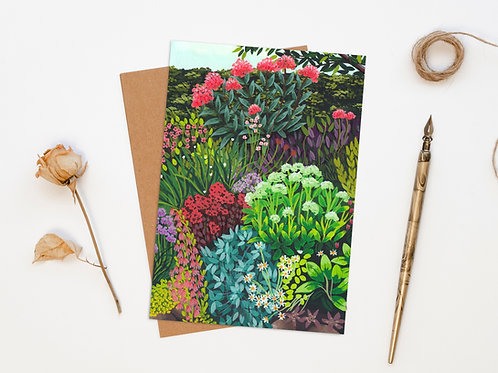 Late Spring Garden Greeting Card