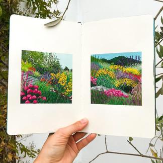Mini Garden Scenes Sketchbook
